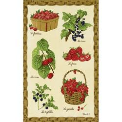 Torchon Fruits Rouges