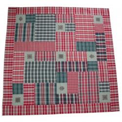 Nappe patchwork kelsch flocons