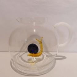 Pichet à eau Escargot en verre duran