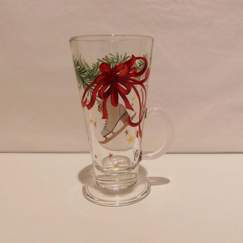 Verre à vin chaud Noël en verre
