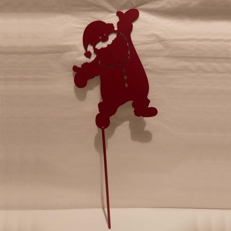 Père Noël rouge en métal