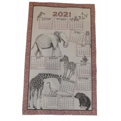 Torchon Calendrier 2021 original métis