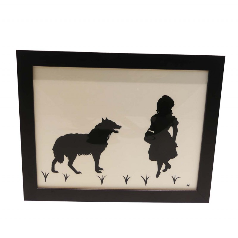 Cadre Silhouette Chaperon rouge