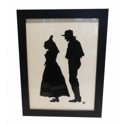 Cadre Silhouette Couple de vieux
